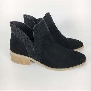 American Eagle Vegan Suede Black Boots Booties 8.5